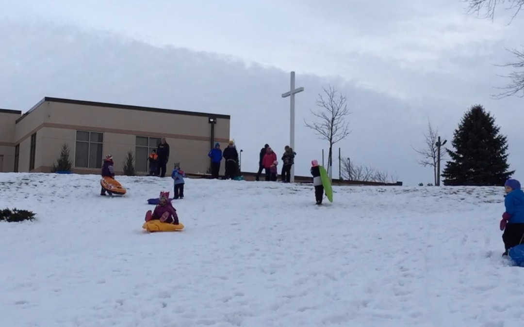 Sledding in January!